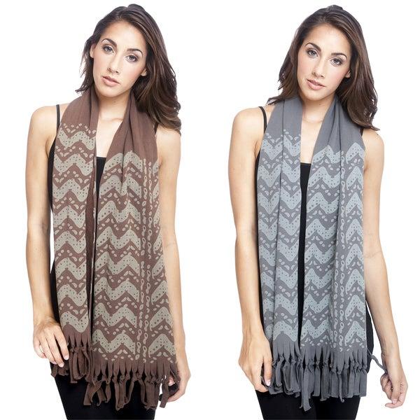 Women's Winter Organic Cotton Fleece Lined Scarf