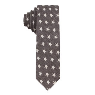 Skinny Tie Madness Men's 'Star Crossed' Star Print Skinny Tie