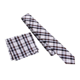 Skinny Tie Madness Men's 'Mr Madison' Skinny Tie and Pocket Square Set