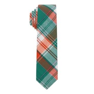 Skinny Tie Madness Men's 'Tracy the Tramp' Madras Plaid Skinny Tie
