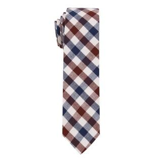 Skinny Tie Madness Men's 'Gentle Jenny' Plaid Skinny Tie