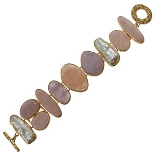 Dallas Prince Pearl, Morganite, Kunzite and Pink Opal Bracelet