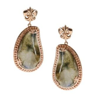Dallas Prince Gold over Silver Labradorite Earrings