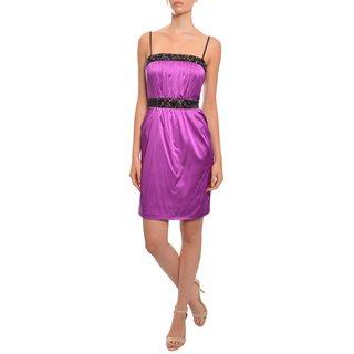 Marc Bouwer Women's Glamit Magenta Silk Evening Dress