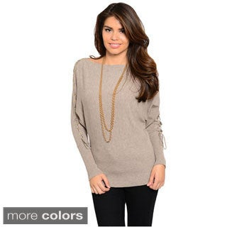 Feellib Women's Lace-up Sleeve Sweater