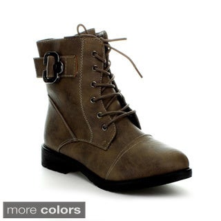 Top Moda Women's 'Club-25' Lace-up Combat Boots