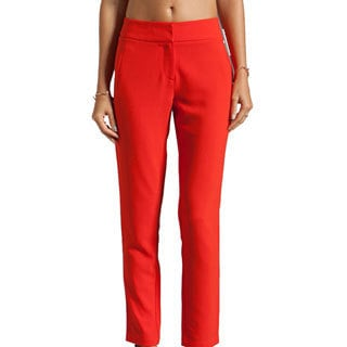 Clinton Women's Tomato Orange Ankle Pants