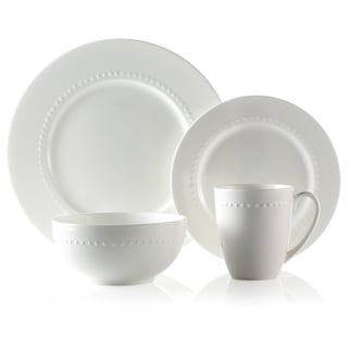 Roscher 32-piece Hobnail Bone China Dinnerware Set