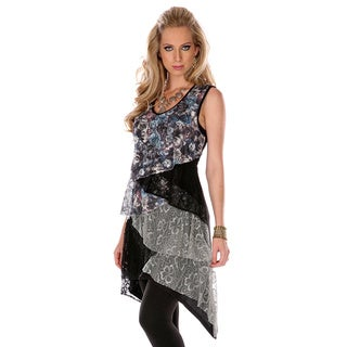 Women's Sleeveless Floral Layered Top