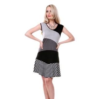 Women's Sleeveless Multicolored Striped Dress