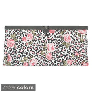Floral and Leopard Print Long Wallet