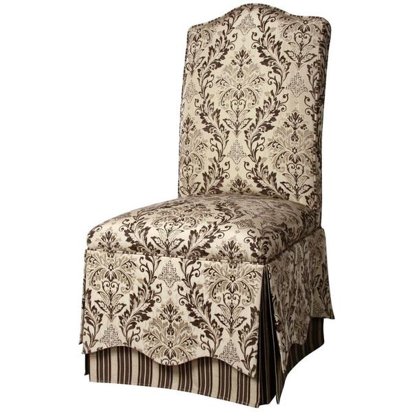 Upholstered Dining Chair Parsons Armless Brown Design: Cream And Brown Upholstered Parson Chair