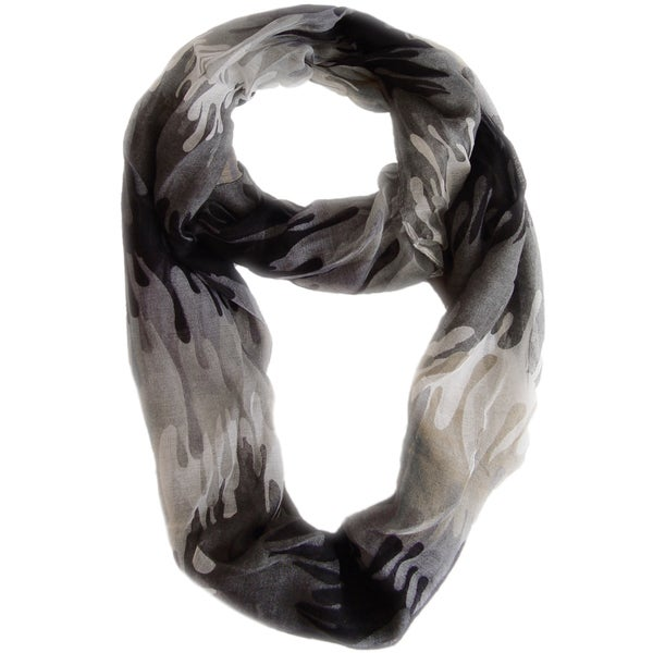 Abstract Black Paint Design Loop Scarf