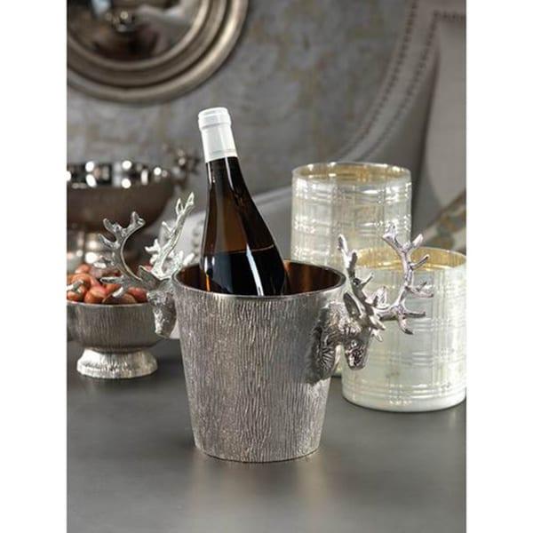 Raw Aluminum Reindeer Wine Bucket