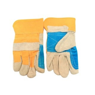Large Heavy Duty Cowhide Leather Work Gloves