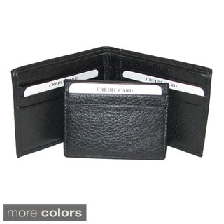 Genuine Cowhide Leather Wallet with Removable Credit Card Holder