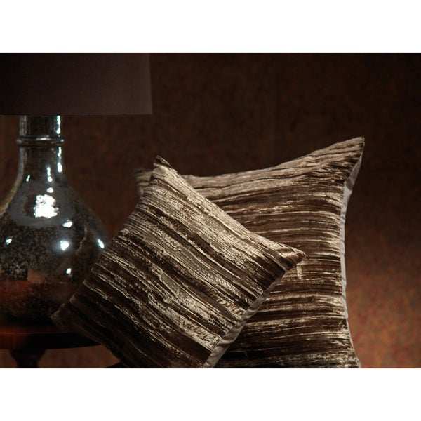 Opulent Velvet and Silk Decorative Throw Pillow (Set of 2)