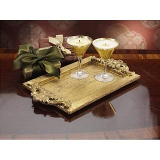 Milano Gold Rectangular Serving Tray