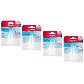 Playtex VentAire Standard 3M+ Medium Silicone Nipples (Pack of 4)