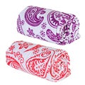 Trend Lab Orchid and Coral Paisley Flannel Swaddle Blankets (Pack of 2)