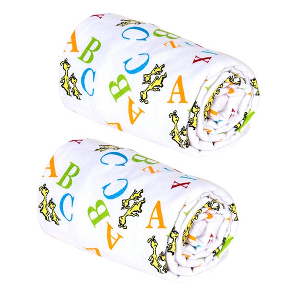 Trend Lab Dr. Seuss ABC Swaddle Blankets (Pack of 2)