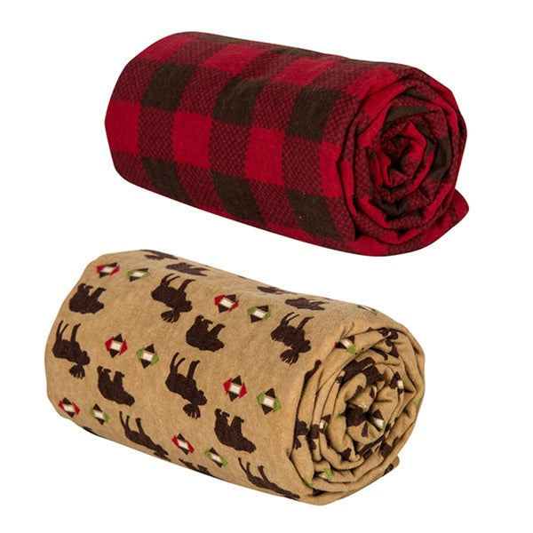 Trend Lab Northwoods and Check Swaddle Blankets (Pack of 2)