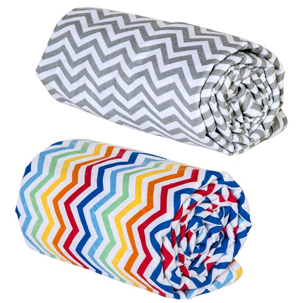 Trend Lab Chevron Swaddle Blankets (Pack of 2)