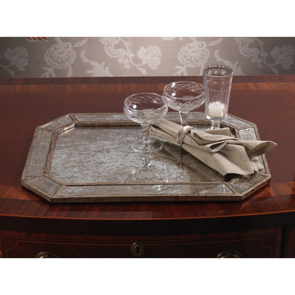Antique Silver Mirrored Tray