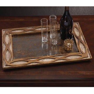 Antique Gold and Silver Mirrored Tray