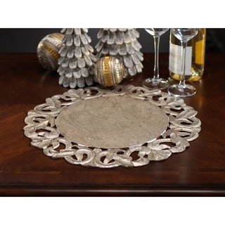 Scroll Design Antique Wooden Placemat (Set of 6)