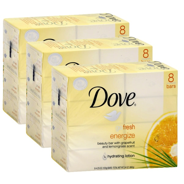 Dove Go Fresh Energize 4.25-ounce Beauty Bar Soap (24 Count)