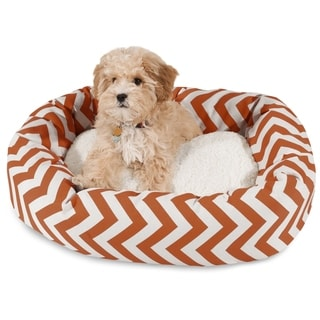 Majestic Pet Chevron Sherpa Bagel Pet Bed