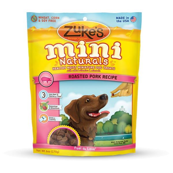 Zuke's Mini Naturals Roasted Pork Recipe Dog Treats
