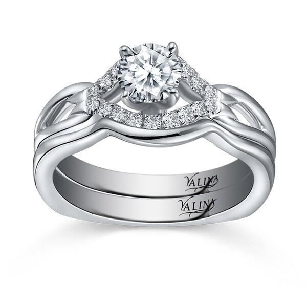 14k White Gold Valina Designer Bridal Diamond 2-piece Bridal Ring Set (F-G, SI1-SI2)