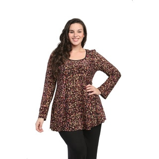 24/7 Comfort Apparel Women's Plus Size Polka-dot Tunic