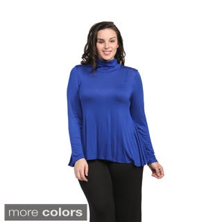 24/7 Comfort Apparel Women's Plus Size Turtleneck Sweater