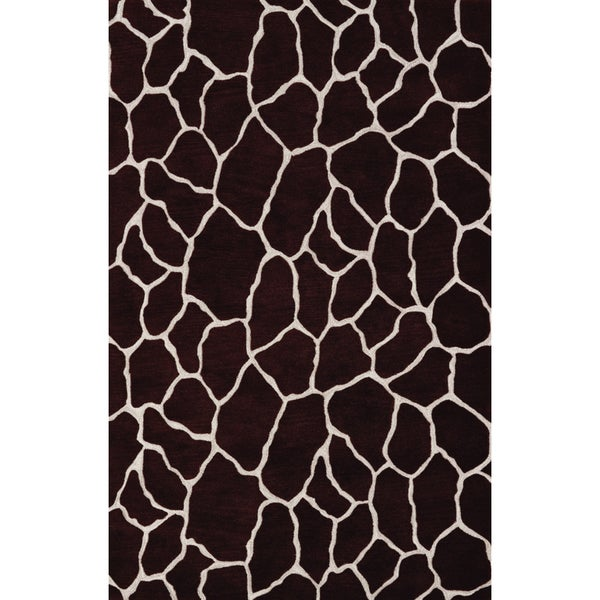 Quest Chocolate Rectangular Rug (5' x 7'9)