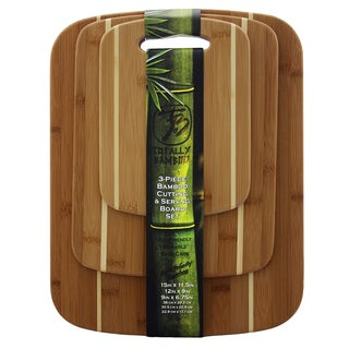 Totally Bamboo Stripe 3-piece Cutting Board Set