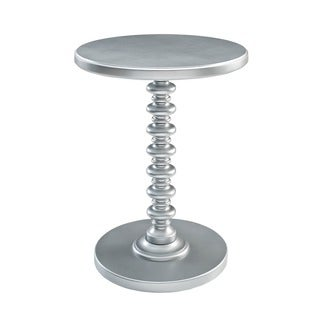 Powell Silver Round Spindle Table