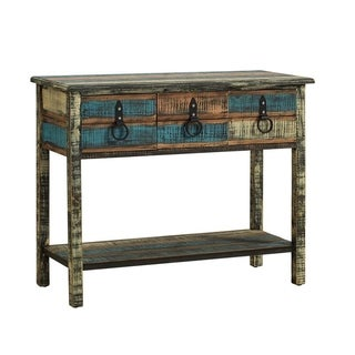 Powell Calypso Colorful Console Table