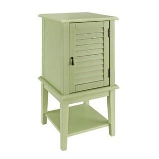 Powell Seagreen Shutter Door Table