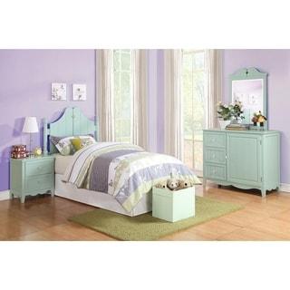 Powell Gabby Aqua Green Twin Bed in a Box