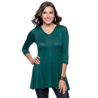 24/7 Comfort Apparel Women's V-neck Tunic