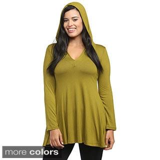 24/7 Comfort Apparel Women's Long-sleeve V-neck Hoodie