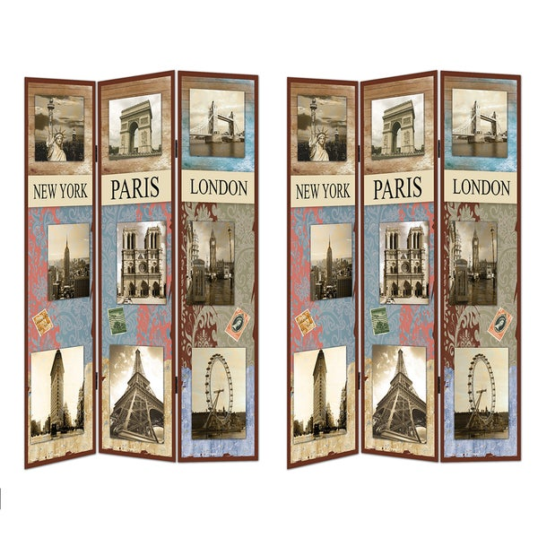 Famous Places Room Divider