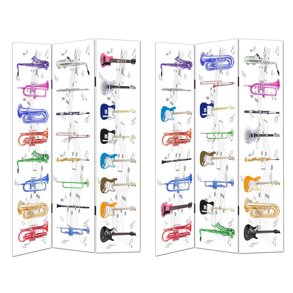 3-panel Musical Instruments Room Divider