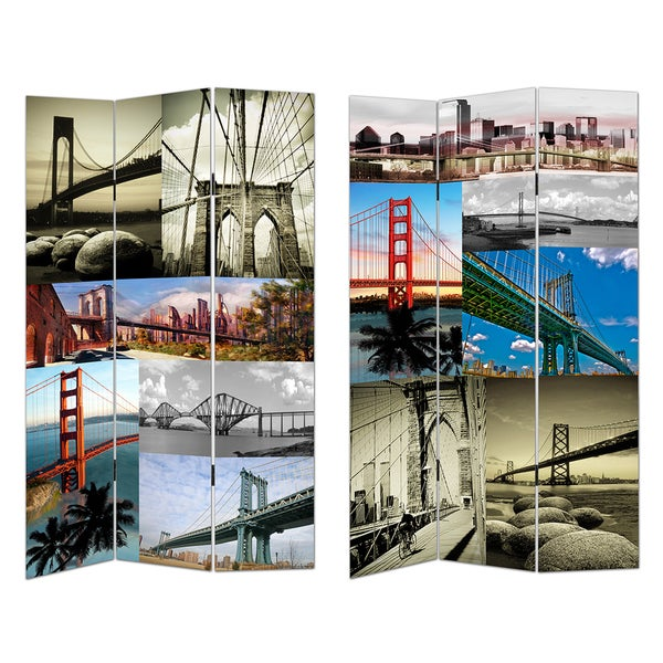 3-panel Famous Bridges Room Divider