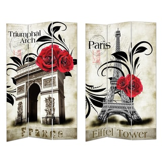Eiffel Tower Canvas Room Divider
