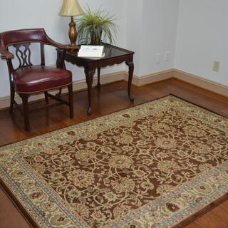Traditional Mahal Mocha Area Rug (5'3 x 7'7)