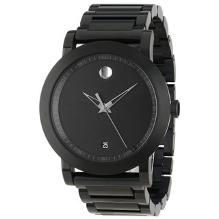 Movado Men's 0606615 'Museum Sport' Black Stainless Steel Watch